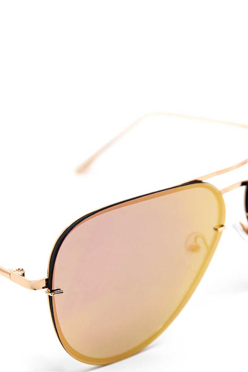 Fashion Pink Purple Aviator Sunglasses