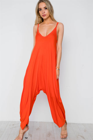 Metallic Accordion Pleated Side Slits Jumpsuit