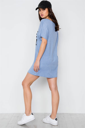 Bride Squad Graphic Short Sleeve T-shirt Dress