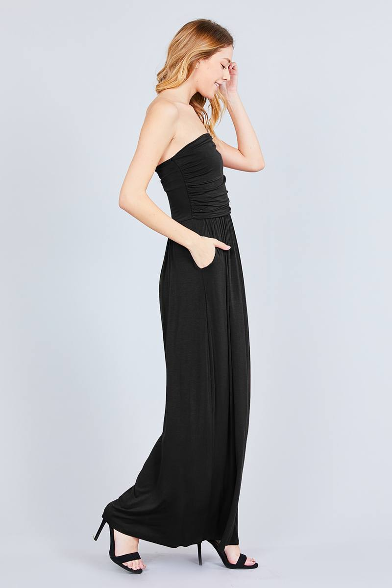 Rayon Modal Spandex Tube Top Maxi Dress