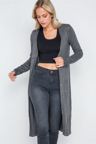 SALE -Solid Color Dark Style Cardigan, All Sizes