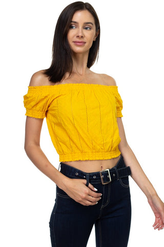 Scoop Neck W/back Cross Strap Detail Waist Self Tie Ribbed Cotton Spandex Crop Top