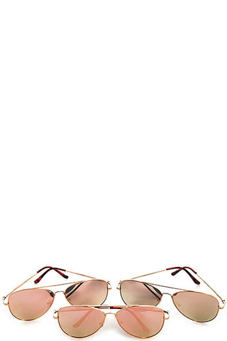 Mirror lens stylish framed sunglasses