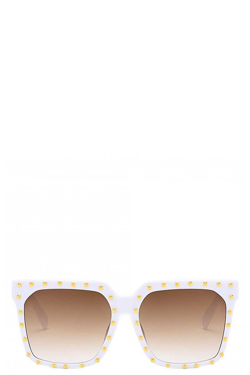Designer Studded Poly Carbonate Sunglasses