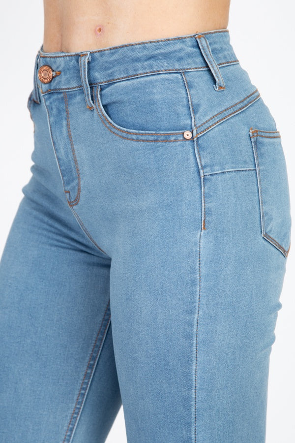 High Rise Denim Skinny Jeans