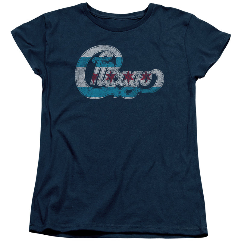 Chicago - Flag Logo Short Sleeve Women's Tee