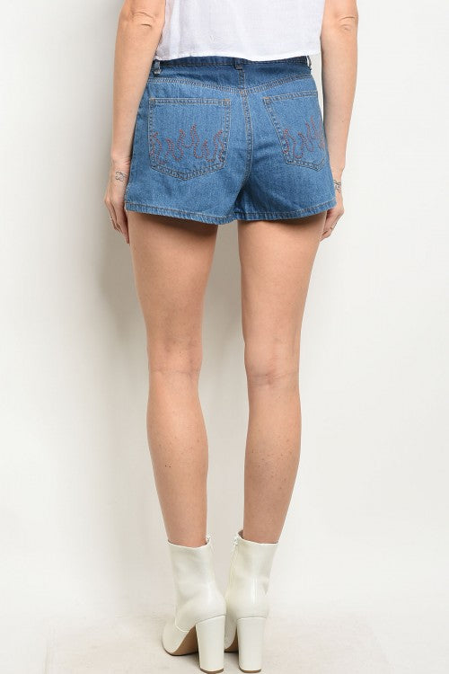 Let's be chill Denim Shorts $9.99 SALE