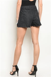 Black Summer Denim Shorts