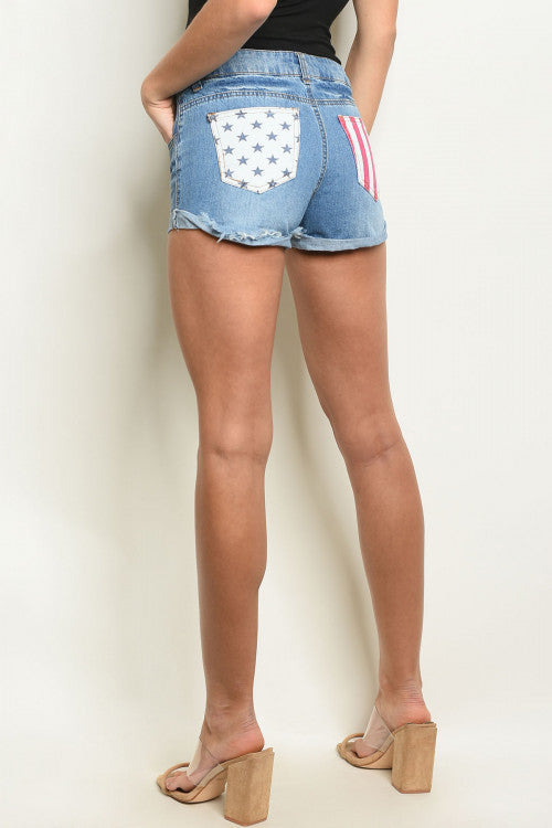 Rock America Denim Shorts