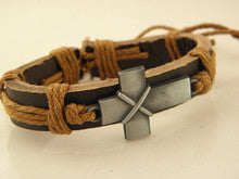 UNISEX Brown Super Cool Cross Tribal Style Stylish Sideways Arm Cross Bracelet