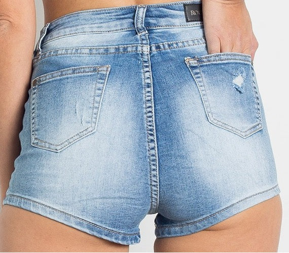 Get them Girl, Denim Distressed Shorts.