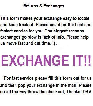 EXPRESS EXCHANGE,  Automated Exchange Form.