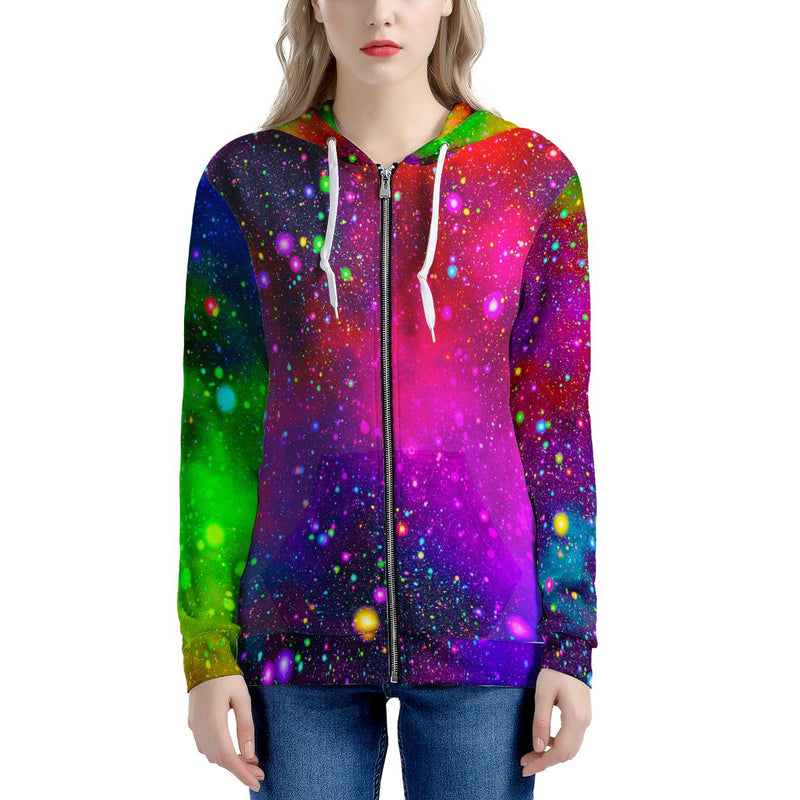 Acid Rainbow - Women's All Over Print Zip Hoodie