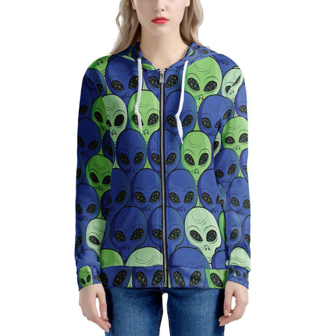 Going Postal - Women's All Over Print Zip Hoodie