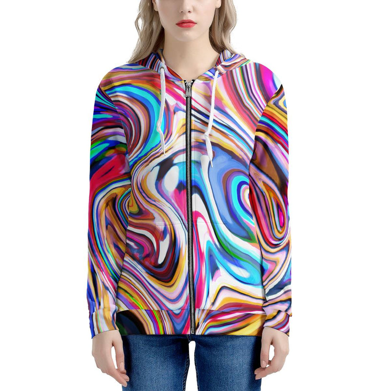 Lucid Dream - Women's All Over Print Zip Hoodie