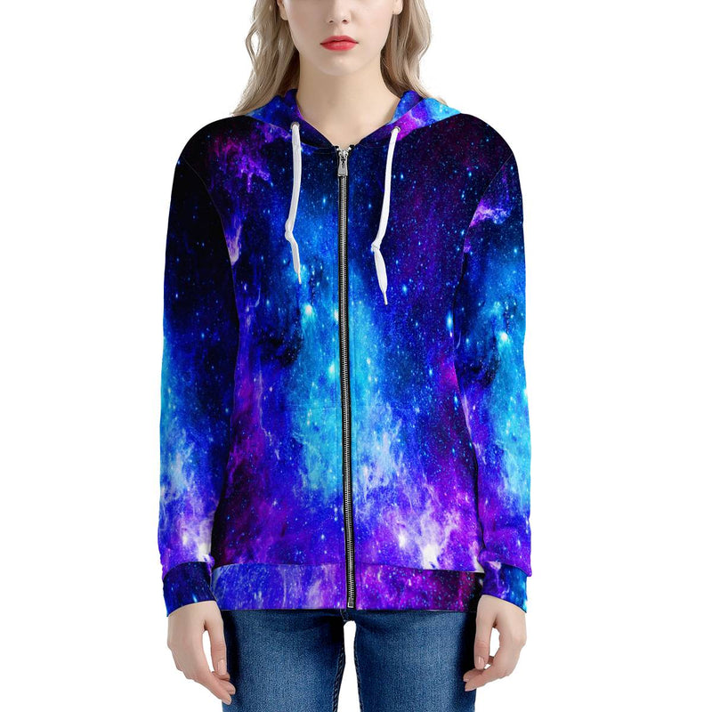Icy Way - Women's All Over Print Zip Hoodie