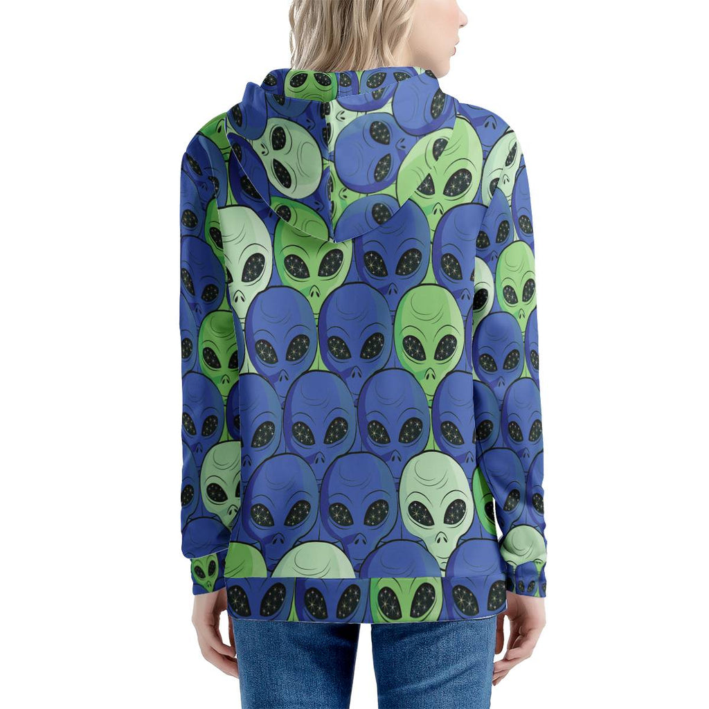 Spaced Out - Women's All Over Print Zip Hoodie