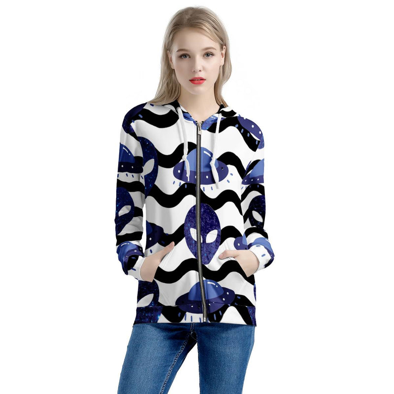 Outta Here - Women's All Over Print Zip Hoodie