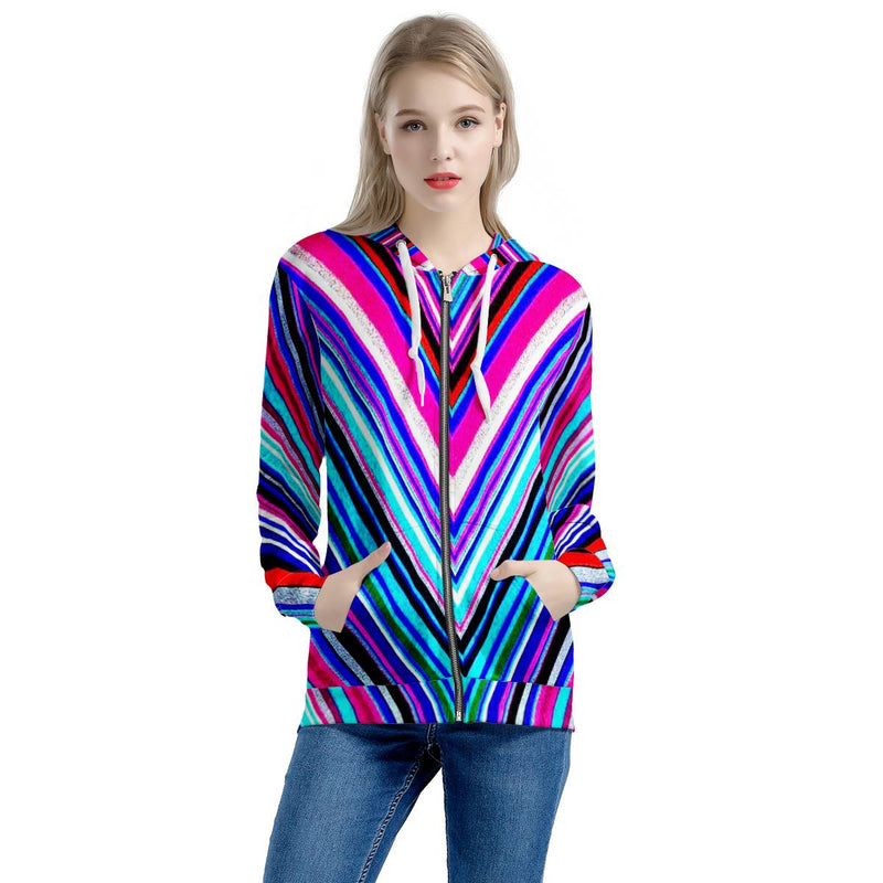 Illusions - Women's All Over Print Zip Hoodie