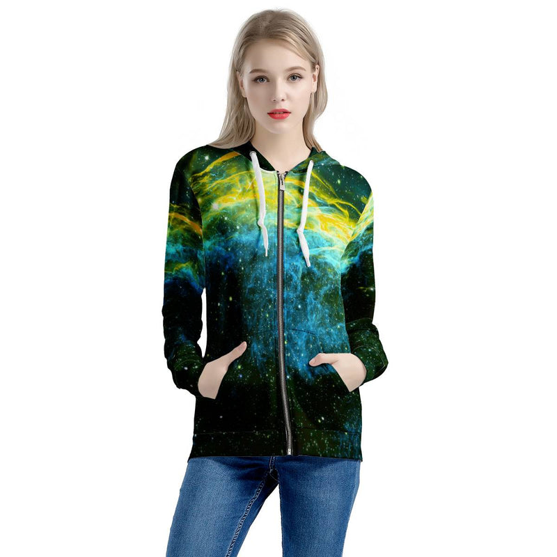 Golden Way Women's All Over Print Zip Hoodie