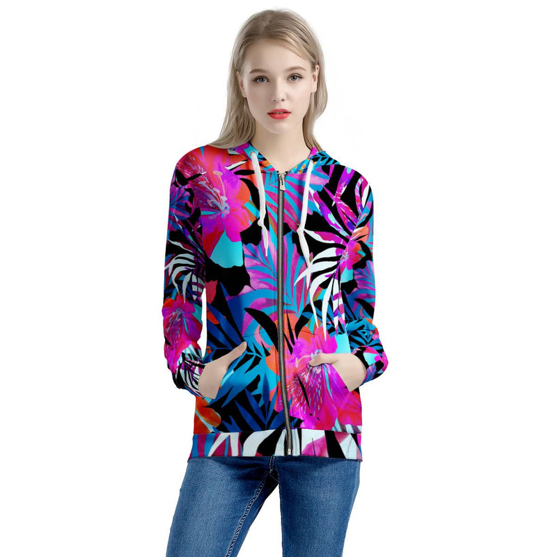 Summer Days - Women's All Over Print Zip Hoodie