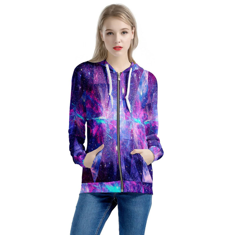 Intergalactic - Women's All Over Print Zip Hoodie