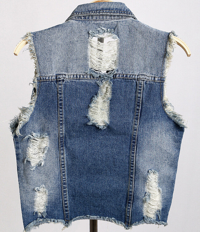 Brand New Skull Vest Jean Jacket, All Sizes.