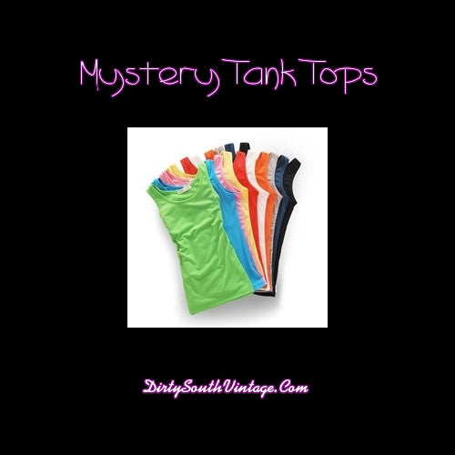 Mystery Tank Tops Shirts: Vintage & Modern: All Sizes & Styles
