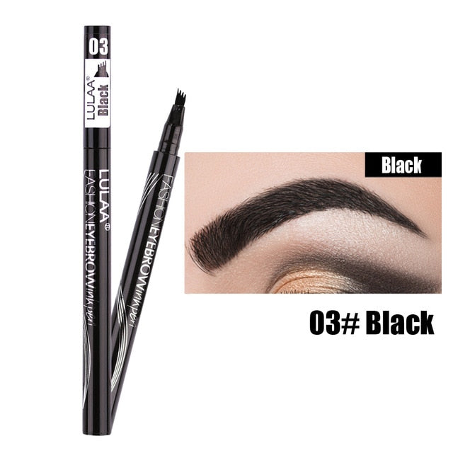 Microblading Eyebrow Pen Four-claw Eye Brow Tint Makeup Waterproof Natural Pencil 4 Colors Brown Black Grey Brush Cosmetics