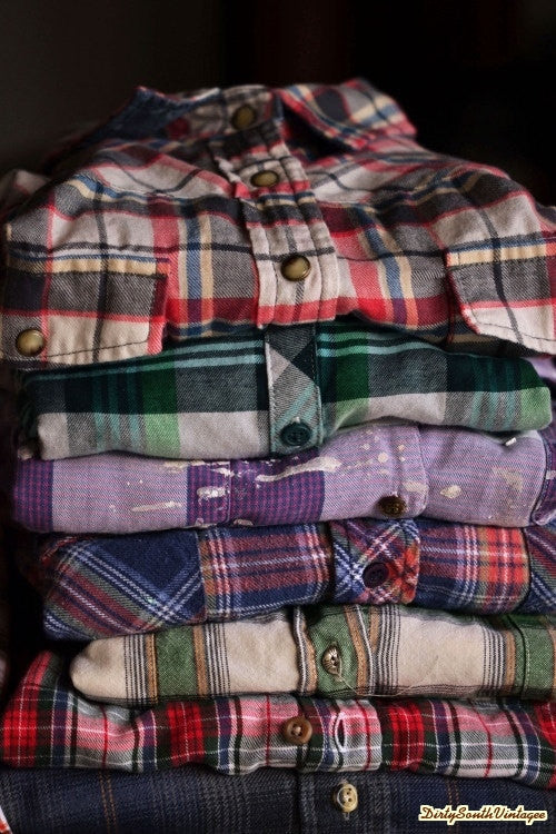f42a2b8b7 MYSTERY DISTRESSED FLANNELS 90'S Grunge Unisex Style – Pick Your Size –  DirtySouthVintage.com