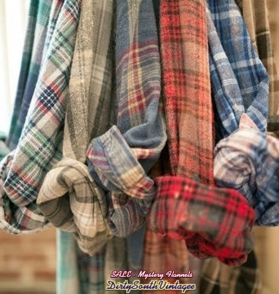 Unisex Mystery Vintage Flannel Shirts - Pick Your Size & Color