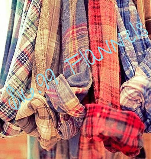 FLASH SALE -Unisex Mystery Vintage Flannel Shirts - Pick Your Size & Color