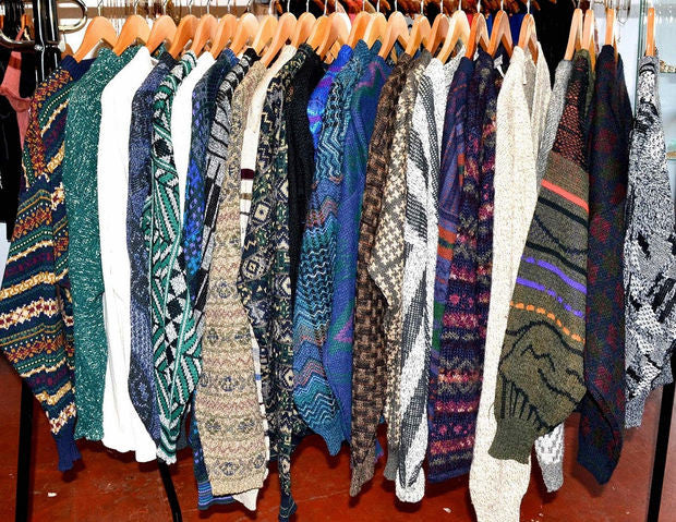 Unisex Vintage Old School Mystery Sweaters! Hipster 80's & 90's Look!! Super Cool!! All Styles & Sizes!!