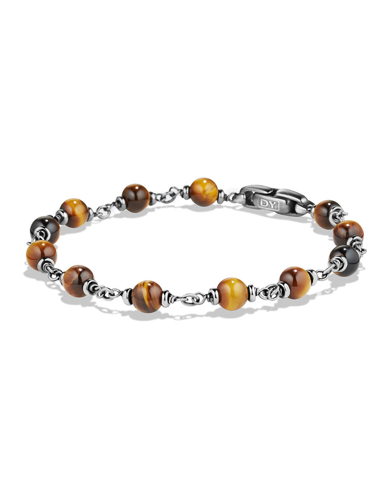 Rosary Beads Bracelet with Tiger's Eye Beads, Brown