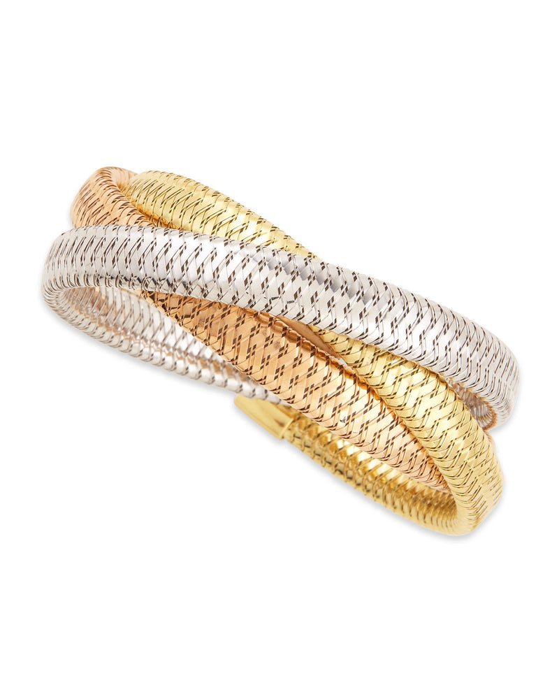 Primavera 9.5mm 18k Mixed Gold Bracelet