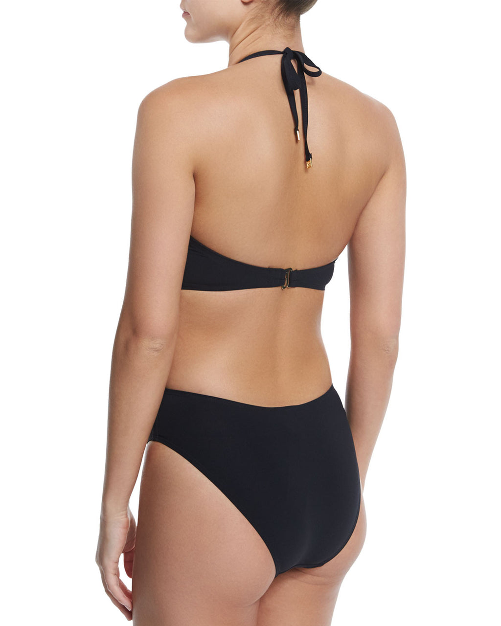 Solid Bandeau One-Piece Swimsuit