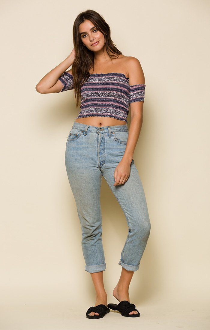 SYDNEY OFF SHOULDER CROP TOP