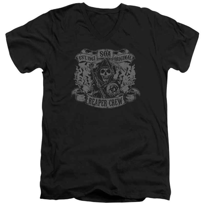 Sons Of Anarchy - Original Reaper Crew Short Sleeve Adult V Neck