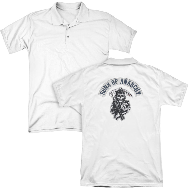Sons Of Anarchy - Bloody Sickle (Back Print) Mens Regular Fit Polo