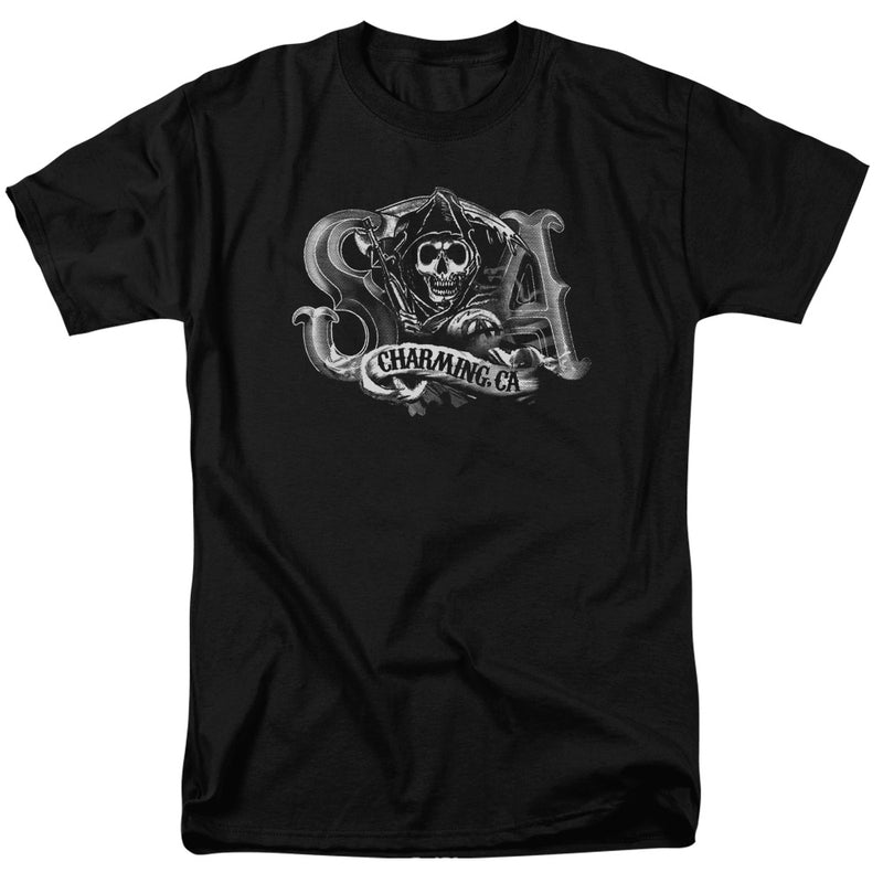 Sons Of Anarchy - Charming Ca Short Sleeve Adult 18/1