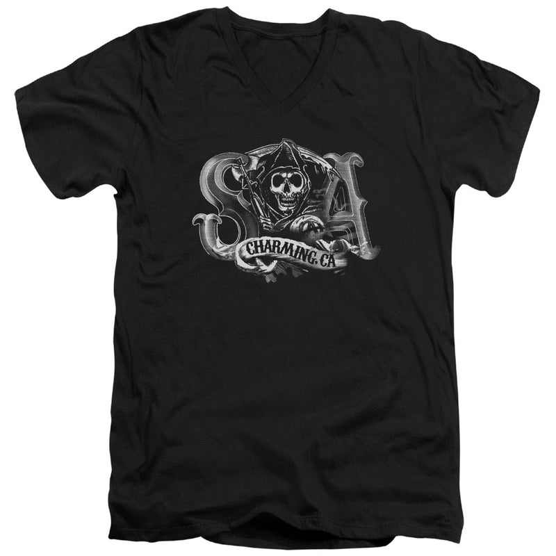 Sons Of Anarchy - Charming Ca Short Sleeve Adult V Neck