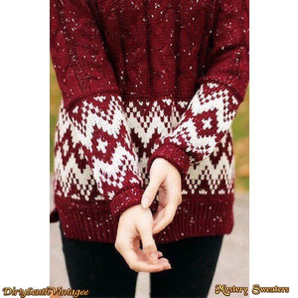 OverSized Mystery Hipster Sweaters - All Hipster Colors - All Grunge Patterns.