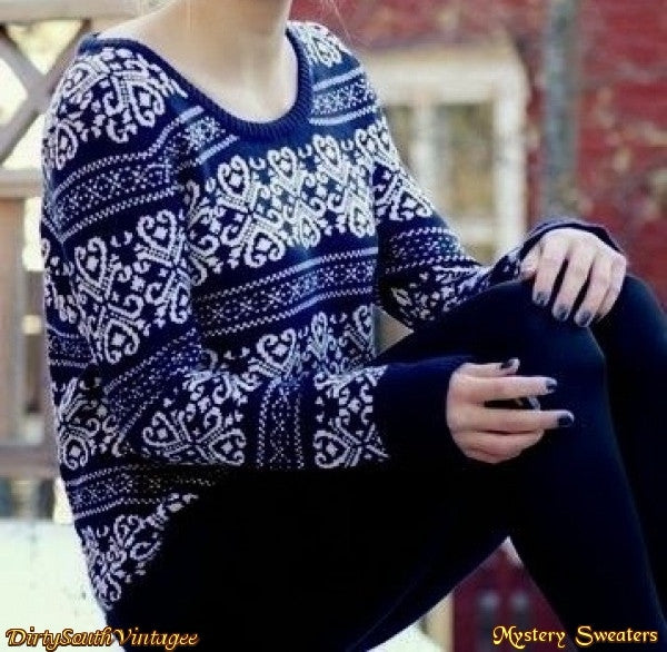 Mystery Sweaters - Over-sized Mystery Sweaters: All Hipster Colors - All Grunge Patterns.