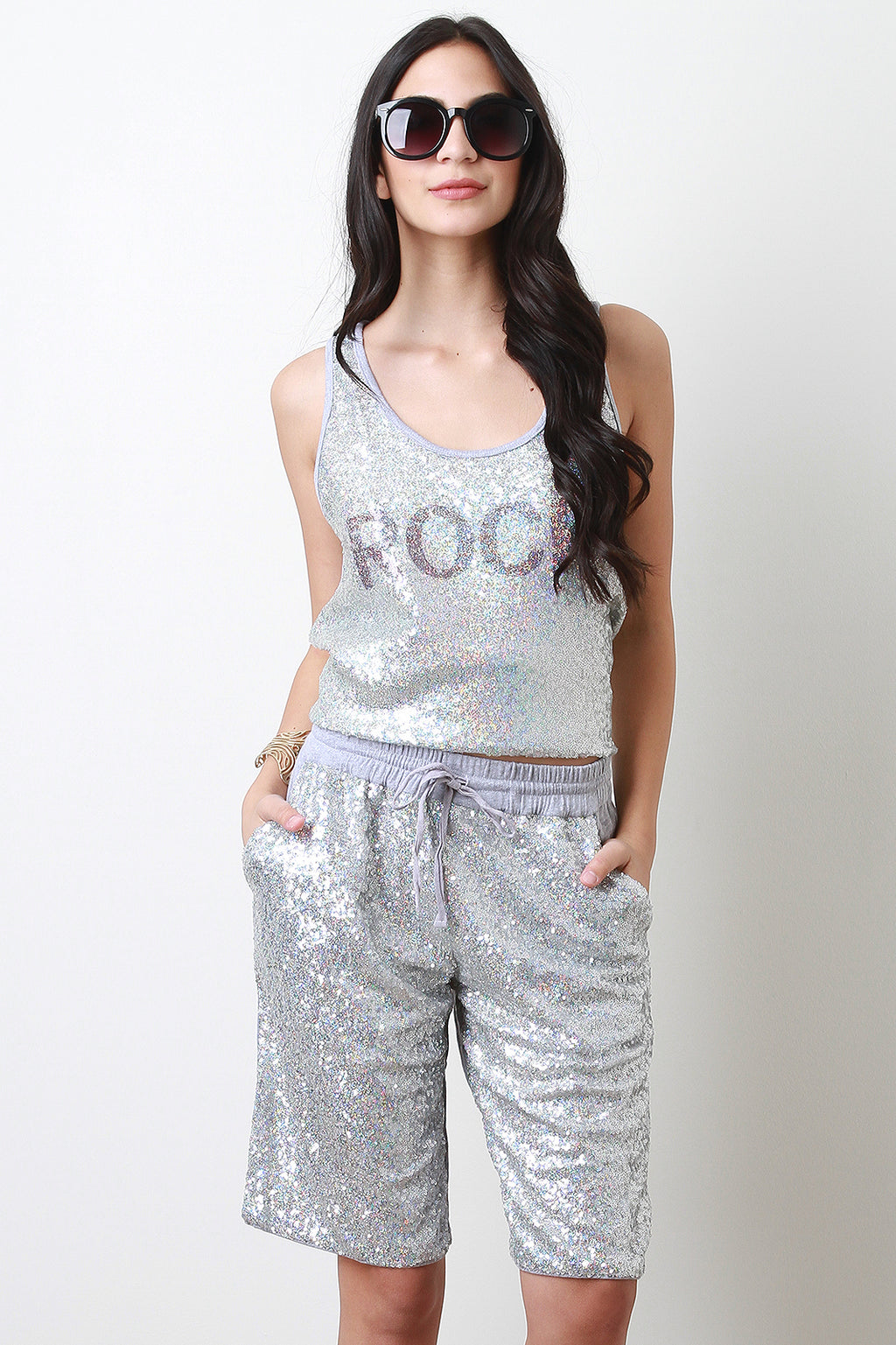 Sequined Rock Top
