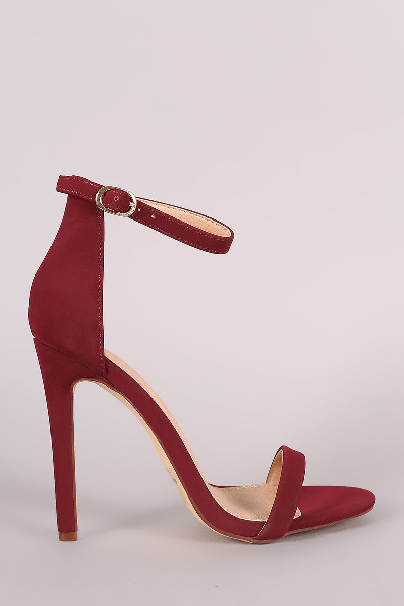 Nubuck Single Sole Strappy Heel