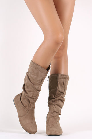 Pointy Toe Slouchy Stiletto Over-The-Knee Boots