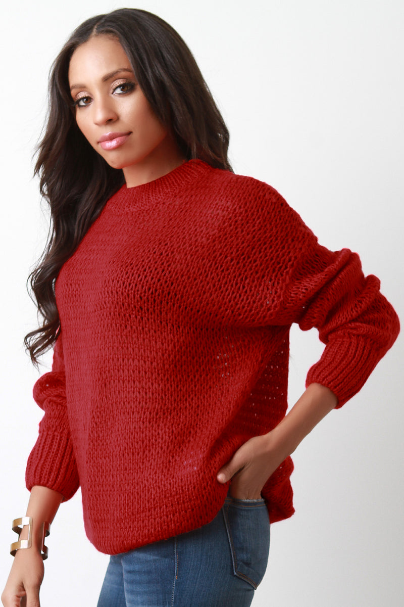 Soft Loose Knit Oversized Sweater Top