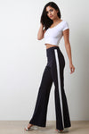 Tuxedo Stripe High Waisted Flare Pants