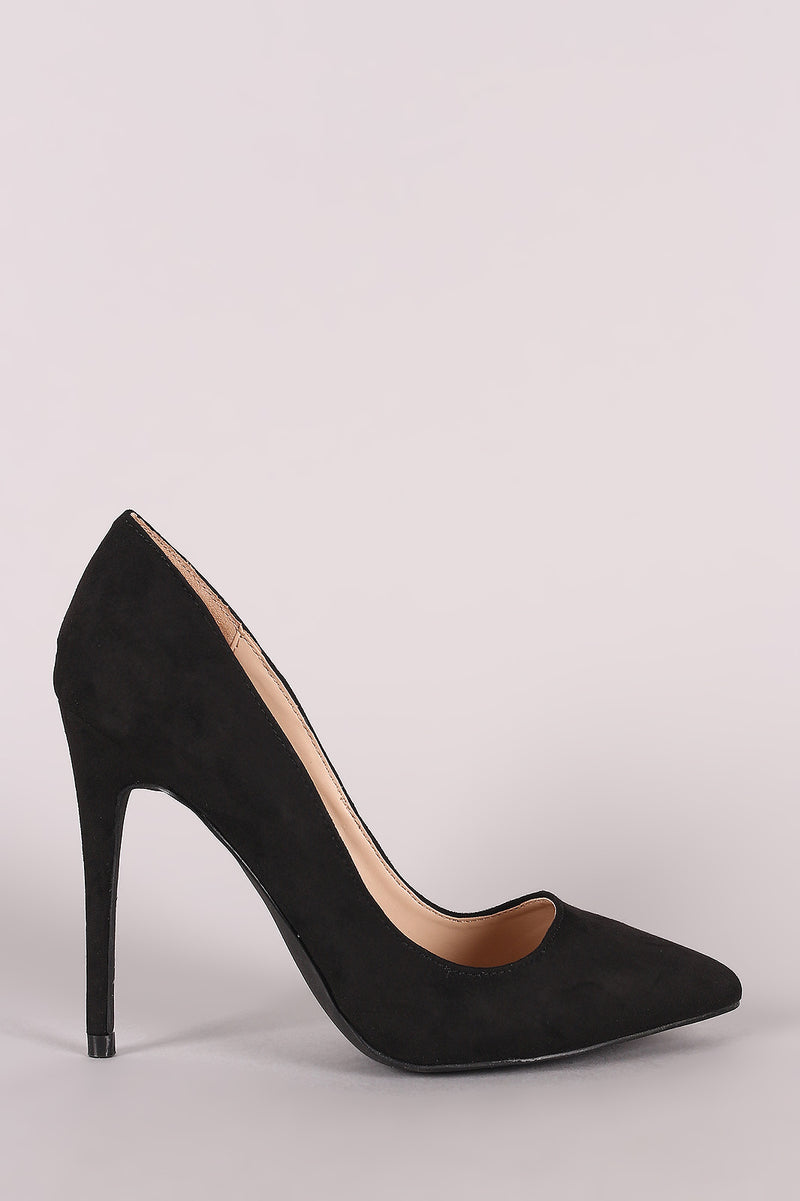 Anne Michelle Suede Pointy Toe Stiletto Pump