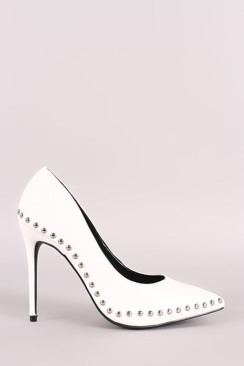 Wild Diva Lounge Studded Pointy Toe Pump